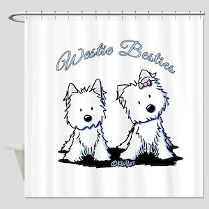 Westie Besties Shower Curtain