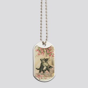 Vintage Wedding Cats Dog Tags