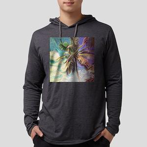 Abstract Rainbow Palm Tree Long Sleeve T-Shirt