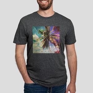Abstract Rainbow Palm Tree T-Shirt