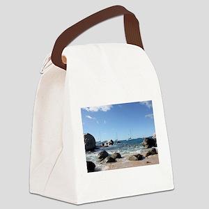 BVI Sailing Boats Canvas Lunch Bag