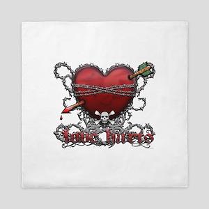 Love Hurts Queen Duvet