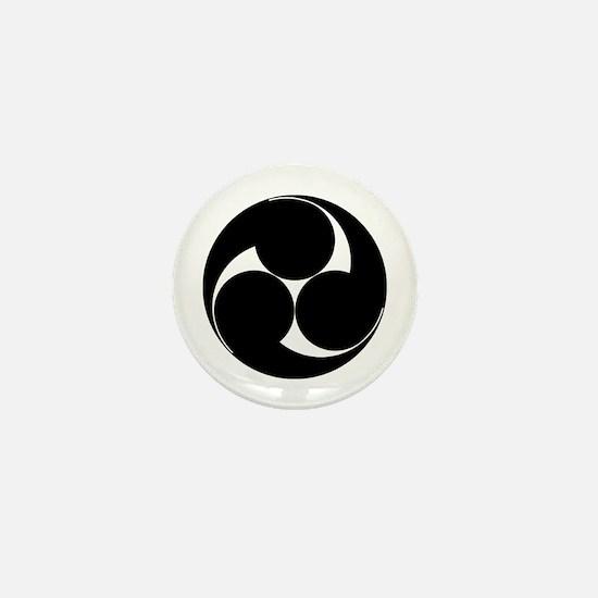 Three clockwise swirls Mini Button