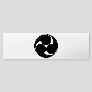 Three clockwise swirls Sticker (Bumper)