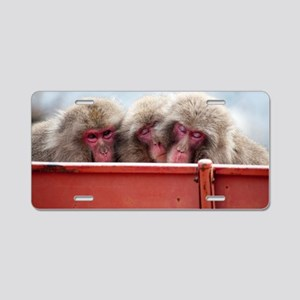 three wise monkeys Aluminum License Plate