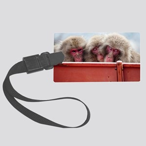 three wise monkeys Large Luggage Tag