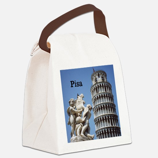 Customizable Leaning Tower of Pis Canvas Lunch Bag