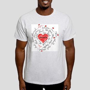For God So Loved the World Light T-Shirt