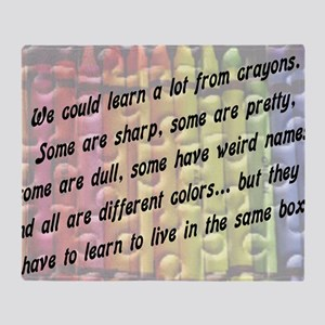 learn from crayons Throw Blanket