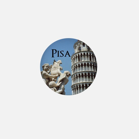 Customizable Leaning Tower of Pisa So Mini Button