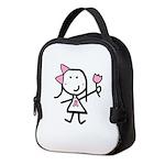 Girl & Pink Ribbon Neoprene Lunch Bag