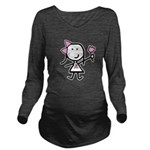 Girl & Pink Ribbon Long Sleeve Maternity T-Shirt