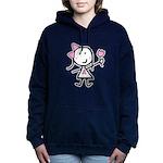 Girl & Pink Ribbon Women's Hooded Sweatshirt
