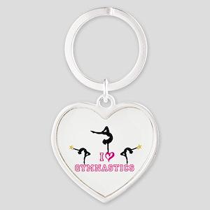 I Love Gymnastics Heart Keychain Keychains