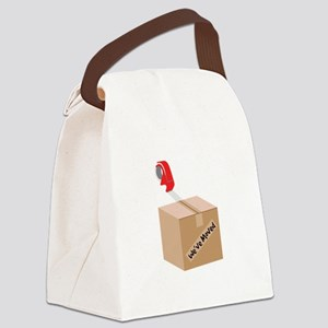 Weve Moved Canvas Lunch Bag