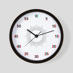 Anaglyph Clock Wall Clock