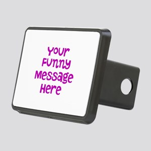Four Line Dark Pink Message Hitch Cover