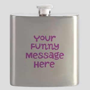 Four Line Dark Pink Message Flask