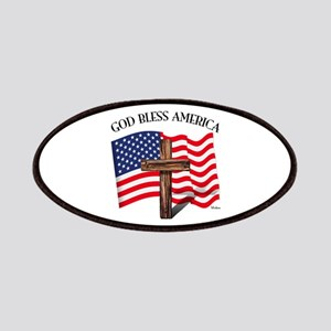 God Bless American With US Flag and Rugged Patches