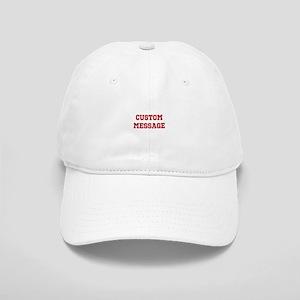 Two Line Custom Sports Message Baseball Cap