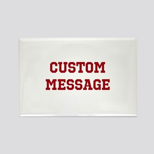 Two Line Custom Sports Message Magnets