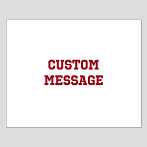 Two Line Custom Sports Message Posters
