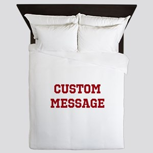 Two Line Custom Sports Message Queen Duvet