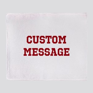 Two Line Custom Sports Message Throw Blanket