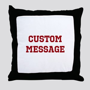 Two Line Custom Sports Message Throw Pillow