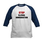 Stop Illegal Immigration Kids Baseball Jersey
