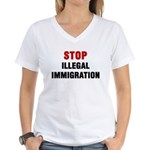 Stop Illegal Immigration Women's V-Neck T-Shirt