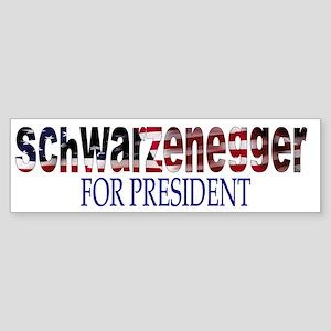 Schwarzenegger For President Bumper Sticker