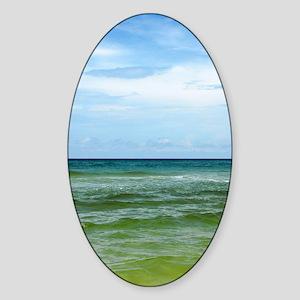 Photograph of Ocean Horizon Sticker (Oval)