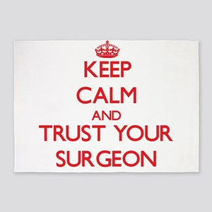 Keep Calm and trust your Surgeon 5'x7'Area Rug