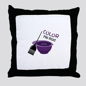 Color Me Rad Throw Pillow