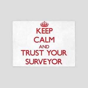 Keep Calm and trust your Surveyor 5'x7'Area Rug