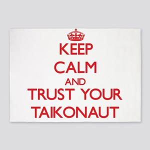 Keep Calm and trust your Taikonaut 5'x7'Area Rug