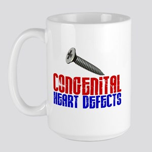 Screw Congenital Heart Defects 1.1 Large Mug