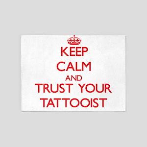 Keep Calm and trust your Tattooist 5'x7'Area Rug
