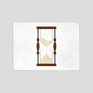 Hourglass Sand Timer 5'x7'Area Rug