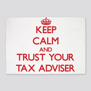 Keep Calm and trust your Tax Adviser 5'x7'Area Rug