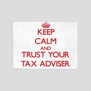 Keep Calm and trust your Tax Adviser 5'x7'Area Rug