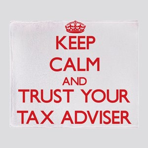 Keep Calm and trust your Tax Adviser Throw Blanket