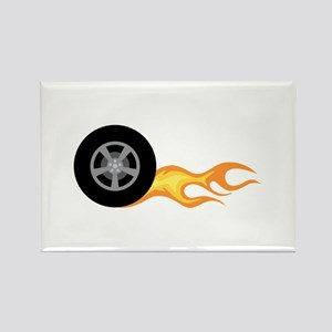 Racing Car Wheel Fire Magnets
