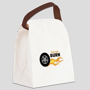FEEL THE BURN Canvas Lunch Bag