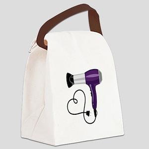 Hair Dryer Canvas Lunch Bag