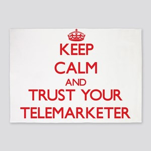 Keep Calm and trust your Telemarketer 5'x7'Area Ru