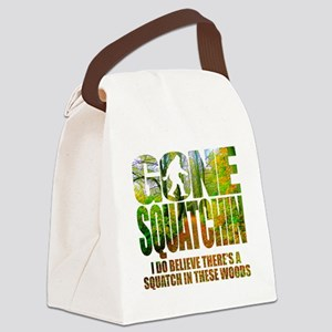 Gone Squatchin *Wooded Path Editi Canvas Lunch Bag