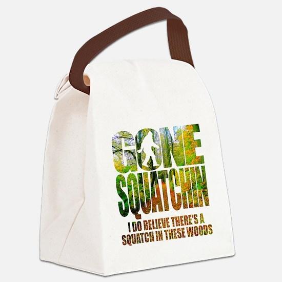 Gone Squatchin *Wooded Path Editi Canvas Lunch Bag