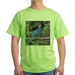 Steller's Jay on Branch Green T-Shirt